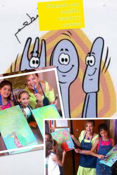 Painting# kids#spoon#fork#knife#summercamp#macamuller