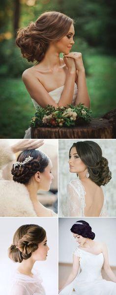 Szukasz idealnej fryzury na swój ślub? Niski kok, zwany hiszpańskim, to wprost idealna fryzura ślubna. To klasyczne i bardzo eleganckie upięcie na dzień ślubu. Tym fryzurom bardzo łatwo dodać romantycznego charakteru. Kwiat czy elegancki grzebień to kobiecy akcent, który doda pannie młodej pożądanego uroku! Wedding Hairstyles With Veil, Veil Hairstyles, Pretty Hairstyles, Low Chignon, Wedding Beauty, Wedding Makeup, Low Buns, Fancy, Bridal Hair And Makeup