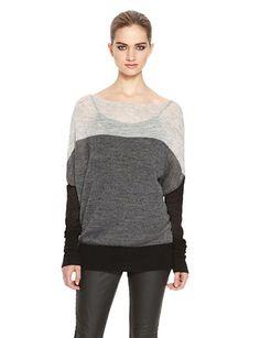 DKNYPURE Color Block Pullover