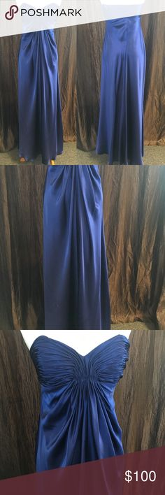 Petite Formal Beautiful electric blue, sort & flowy dress. The tag says size 6 but this dress fits more like a 0-2 Laundry By Shelli Segal Dresses Prom