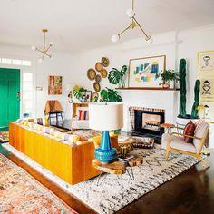 90 Modern Bohemian And Mid Century Living Room Design Ideas And Decor Decor, Living Room Inspiration, Rustic Living Room, Living Room Designs, Modern Room, Mexican Home Decor, Mid Century Living Room, Living Decor, Home Decor