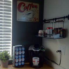Self serve coffee corner general idea (with added donations box)