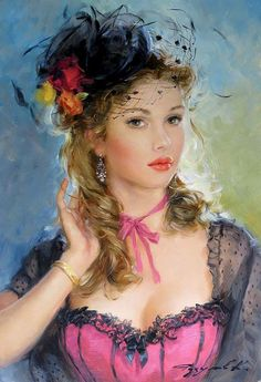 "Konstantin Razumov (born 1974) <br> Oil on canvas, <br> ""Portrait with black hat"" <br> Signed lower right <br> 13 3/4 x 9 1/2"" <br> <br> Please Note -  we do not make reference to the condition of lots within catalogue descriptions. We are however happy to provide additional information regarding the condition of items on request. <br>"