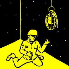 CS_02disco5   -  Christoph Niemann (alemán, b. 1970).  Guerra por extracurriculares Medios . Animación
