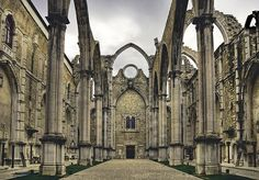 Cathedral ruins in Lisbon, Portugal.