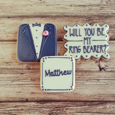 Ring Bearer Cookies |The Baked Equation Phoenix #ringbearer #bridalparty