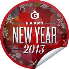 Steffie Doll's Happy New Year 2013 Sticker | GetGlue