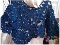 ergahandmade: Crochet Bolero + Diagram
