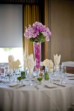 pink, purple, green, Centerpiece, Flower and paper