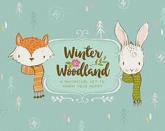Winter woodland clip