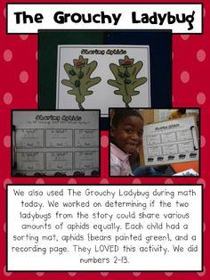 Equal shares...grouchy ladybug