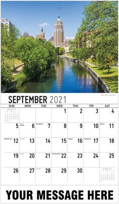 2021 Texas Scenic Wall Calendars low as Imprinted for Business Advertising. Promote your business name, logo and ad message all year! Date Squares, San Antonio River, Calendar App, Us Holidays, Free Advertising, River Walk, Historical Sites, North America, Skyscraper