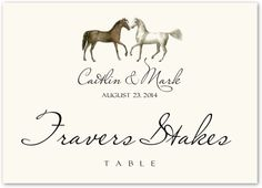 Amble Horse and Equestrian Wedding Table Names and Table Cards Wedding Table Themes, Horse Wedding, Table Names, Fun Things, Equestrian, Place Card Holders, Horses, Cards, Fun Stuff