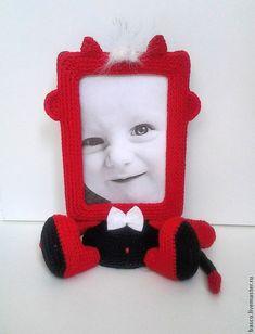 """Купить Фото рамочка """"Чертёнок"""" - фоторамка, рамка для фото, подарок на день рождения, в детскую, для дома"""
