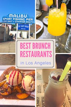 Where to find the best brunch spots and restaurants in Los Angeles, California USA! Looking for bottomless mimosas, views or something outside? You can find the perfect spot in my most recent brunch post. You can even have ice cream for breakfast! Los Angeles Food, Los Angeles Travel, Los Angeles Restaurants, Los Angeles Brunch, Breakfast Los Angeles, Brunch Places, Brunch Spots, Ice Cream For Breakfast, Best Breakfast