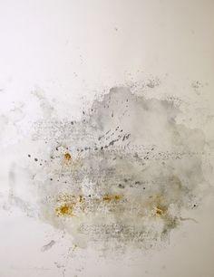 Calligraphie de Julien Chazal Poème de Guillaume Apollinaire - Marie Gouache et pigments sur papier MBM Ingres Arches 50 x 65 cm - Novembre 2014