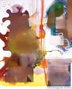 """""""Untitled"""" (2005) oil on canvas by Albert Oehlen 70 7/8 x 59 inches"""