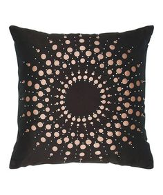 Take a look at this Brown Laser-Cut Sunburst Throw Pillow by India's Heritage on #zulily today!