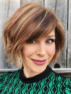Texturized bob with bangs