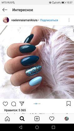 Nail Ideas Trendy Nails Simple Blue Nail Art - # Blue # Nails Wedding C Perfect Nails, Gorgeous Nails, Pretty Nails, Nagel Hacks, Nagel Gel, Super Nails, Fancy Nails, Cute Acrylic Nails, Stylish Nails