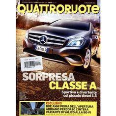 QUATTRORUOTE. Kernstück sind Vergleichstests, Technikbeiträge und Preistabellen. Dazu wichtige zeitgemäße Themen aus der Bedürfniswelt aktiver Autofahrer.