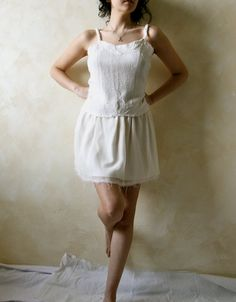 Wool and silk white top  OOAK boho top by LoreTree on Etsy, €40.00