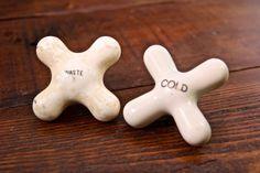 1920s Antique Porcelain Brass & Nickel Art Deco WASTE and COLD Faucets/ Vintage Porcelain Faucets/ Antique Bathroom Fixtures/ Porcelain Taps #AmericanAntique #WasteFaucet #porcelain #NickelPorcelain #taps #VintageTaps #KitchenTap #faucets #BathroomFaucets #ColdFaucet #KitchenFaucets #COLDTAP #VintageFaucets