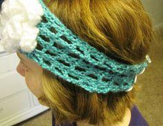 Crochet Headband with Flower