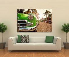 Πίνακας σε καμβά, τελαρωμένος – έτοιμος για τοποθέτηση   Εκτύπωση θέματος με ψηφιακή εκτύπωση σε καμβά 100% βαμβακερό  Τελάρο κουτί 4,5 cm Vintage Green, Couch, Gallery, Furniture, Home Decor, Settee, Decoration Home, Sofa, Roof Rack