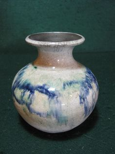 VINTAGE FORK CREEK MILL POTTERY VASE BY ANN WILLIAMS