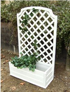 Maintenance Free, Ready To Plant, PVC Trellis And Planter Combo. | Outdoor  Living | Pinterest | Planters, Clematis And Gardens