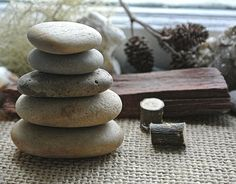 #Meditation Tools // Rock Cairn // Altar by #TheWhimsicalOffshoot #cairn #balancingstones