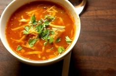 Healthy, hearty tortilla soup. High protein, low carb recipe