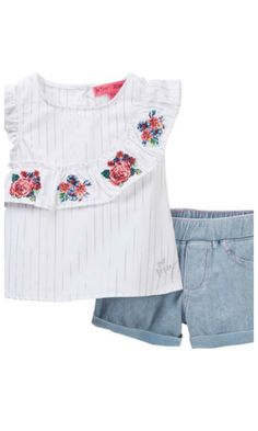 asymmetrical embroidered toddler top set for spring #spring #affiliate