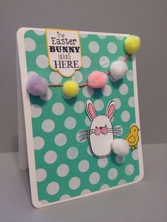 "Easter Greetings.  ""The Easter Bunny was Here"".  Easter card. on Etsy, $6.00"