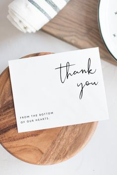Adella - Modern Minimalist Wedding Thank You Card Template Modern Minimalist Wedding Thank You Card Printable Template from Unmeasured Events Card Templates Printable, Printable Thank You Cards, Thank You Card Template, Owl Templates, Label Templates, Modern Minimalist Wedding, Minimalist Design, Modern Design, Business Thank You Cards