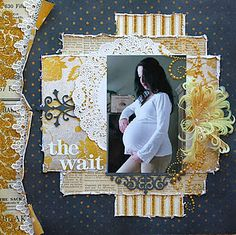 """""""The Wait"""" Layout found on simplypaperandcraft.blogspot.com - Wendy Schultz - Scrapbook Pages 3."""