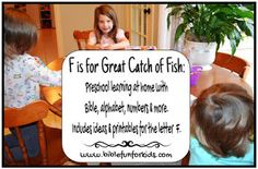 Preschool Alphabet: F is for The Great Catch of Fish