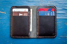 6 Pocket Vertical wallet hand stitched by OneStarLeatherGoods