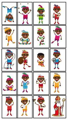 Onderwijs en zo voort ........: 1818. Sinterklaas spelletjes : Zwarte Pieten Kaartspel Holidays Around The World, Christmas Pictures, Elementary Schools, Activities For Kids, Preschool, Memories, December, Dance Studio, Holland