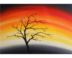 Silhouette+Tree+Summer+Sky++Acrylic+Painting++by+deejavuart,+£35.00 Palm Tree Silhouette, Silhouette Painting, Summer Sky, Palm Trees, Landscape Paintings, Northern Lights, Quilts, Quilting Ideas, Drawings