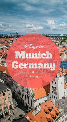 4 Days in Munich Itinerary, Things to Do. If you're reading this, you're probably in the process of planning your Munich itinerary or perhaps wondering if you should visit Munich on your next trip to Europe. The answer is simply YES. Munich is a stunning city with so much to see and experience. The city is one of the most beloved in all of Europe Click to read the full travel blog post at http://www.divergenttravelers.com/things-to-do-munich-itinerary/