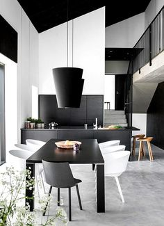 Interior Minimalista en Blanco y Negro | Ideas Casas