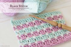 How To: Crochet The Block Stitch - Easy Tutorial by Hopeful Honey