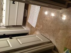 """Small master Bathroom redo: polished concrete floors and 5.5"""" baseboards"""