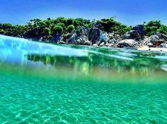 Kavourotrypes, Halkidiki one of the best spots in Greece! Dream Vacations, Vacation Spots, Halkidiki Greece, Macedonia Greece, Places In Greece, Paradise On Earth, Thessaloniki, Greece Travel, Greek Islands