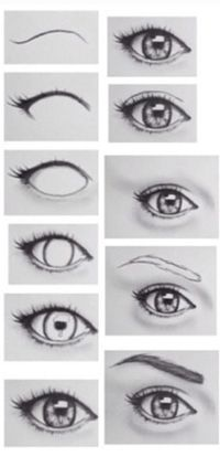 Drawing eyes. I wish I could draw like this! Eyelashes and highlighting are the hardest parts for me!