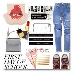 """Campus Chic: First Day of School"" by bevymonique ❤ liked on Polyvore featuring MadeWorn, Fendi, StudioSarah, Converse, Tom Ford, Various Projects and BackToSchool"