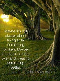 Creating something better
