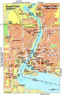 Map of Niagara Falls Attractions | PlanetWare